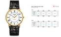 Longines Men's Swiss Automatic Le Grande Classic Presence Black Leather Strap Watch 38mm L49212112