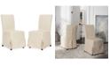 Safavieh Oreton Set of 2 Slip Cover Dining Chairs