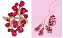 Le Vian Certified Passion Ruby™ (4-1/4 ct. t.w.) & Diamond (1/5 ct. t.w.) Ring in 14k Rose Gold