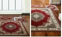 KM Home Florence Kerman Red 4-Pc. Rug Set