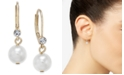 Charter Club Pavé & Imitation Pearl Drop Earrings, Created for Macy's