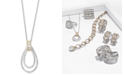 EFFY Collection Duo by EFFY® Diamond Two-Tone Teardrop Pendant Necklace (1/2 ct. t.w.) in 14k Gold and White Gold