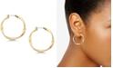"Lucky Brand Twisted 1-1/4"" Hoop Earrings"