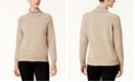 Karen Scott Marled Cotton Turtleneck Sweater, Created for Macy's