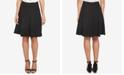 CeCe Moss Crepe A-Line Flounce Skirt