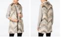 Steve Madden Chevron Patchwork Faux-Fur Vest