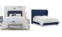 Skyline Avery Tufted Wingback Bed Collection