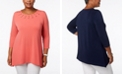 JM Collection Plus Size Grommet-Trim Tunic, Created for Macy's