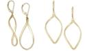 Italian Gold Polished Oval Drop Earrings in 14k Gold