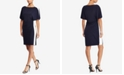 Lauren Ralph Lauren Colorblocked Flutter-Sleeve Dress