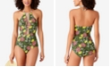 Anne Cole STUDIO Happy Strappy High-Neckline Plunging One-Piece Swimsuit