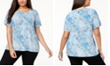 JM Collection Plus Size Printed Gel-Dot T-Shirt, Created for Macy's