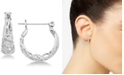 Essentials Small Filigree Small Hoop in Fine Silver Plate Earrings
