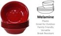 Certified International 6-Pc. Red Melamine All-Purpose Bowl Set