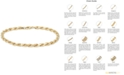 Italian Gold Men's Rope Chain (4mm) Bracelet in 14k Gold, Made in Italy