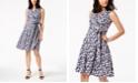 Anne Klein Notch Collar Faux Wrap Dress