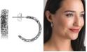 American West Filigree Half Hoop Earrings in Sterling Silver