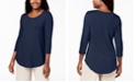 JM Collection Scoop-Neck Top, Regular & Petite Sizes, Created for Macy's
