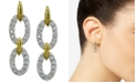 Giani Bernini Cubic Zirconia Double Oval Drop Earrings in 18k Gold-Plated Sterling Silver, Created for Macy's