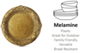 American Atelier Jay Import Gold Embossed Charger Plate