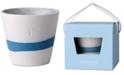 "Wedgwood Burlington Blue & White Pot 4"""