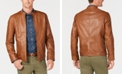 Tasso Elba Men's Pietro Leather Jacket, Created for Macy's
