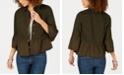 Style & Co Ruffled Denim Jacket, Created for Macy's