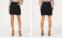 Style & Co Frayed Pull-On Denim Skort, Created for Macy's