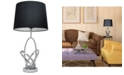 All The Rages Elegant Designs Mod Art Polished Chrome Table Lamp with Black Shade