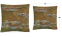 """Baldwin Monet The Water Lily Pond 16"""" x 16"""" Decorative Throw Pillow"""