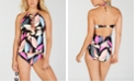 Hula Honey Jungle Boogie Printed High-Neck Halter Tankini Top & Jungle Boogie Printed Hipster Bottoms, Created for Macy's