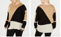 INC International Concepts INC Plus Size Long-Sleeve High-Low Sweater, Created for Macy's