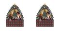 Kurt Adler 16 Inch Christmas Tree 24 Piece Advent Calendar