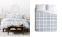 Deny Designs Little Arrow Design Co Winter Plaid Blue Duvet Set