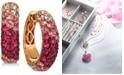 Le Vian Strawberry Layer Cake Multi-Gemstone Ombré Hoop Earrings (4-1/5 ct. t.w.) in 14k Rose Gold