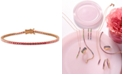 Le Vian Strawberry Layer Cake Ruby (7/8 ct. t.w.) & Pink Sapphire (2 ct. t.w.) Link Bracelet in 14k Rose Gold