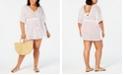 Miken Plus Size V-Neck Tie-Waist Caftan Cover-Up