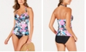 Island Escape Swim Society Printed Fiji Bandeau Tankini Top & Bikini Bottoms, Created for Macy's