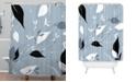 Deny Designs Iveta Abolina Scandi Ice Blue Shower Curtain