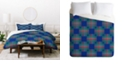 Deny Designs Holli Zollinger Cross Hatch Blue Twin Duvet Set