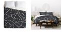 Deny Designs Holli Zollinger Dotted Line Queen Duvet Set