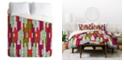 Deny Designs Holli Zollinger Abstract City Queen Duvet Set