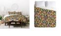 Deny Designs Holli Zollinger Zebrini Floral Mambo Twin Duvet Set