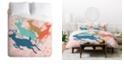 Deny Designs Heather Dutton Dashing Through The Snow Serene Queen Duvet Set