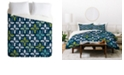 Deny Designs Heather Dutton Holly Go Lightly Midnight Twin Duvet Set