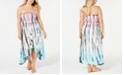 Raviya Plus Size Tie-Dye Tube Dress Cover-Up