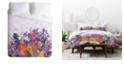 Deny Designs Iveta Abolina Anabelle Lilac Twin Duvet Set