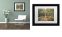 "Trademark Global Cora Niele 'Autumn Walk' Matted Framed Art, 11"" x 14"""
