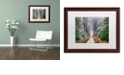 """Trademark Global Cora Niele 'Rhododendron Lane' Matted Framed Art, 16"""" x 20"""""""