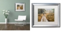 """Trademark Global Cora Niele 'Walking the Dogs' Matted Framed Art, 16"""" x 20"""""""